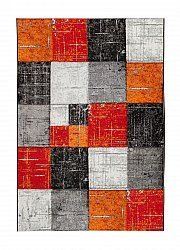 Wilton-Teppich - London Square (rot/orange)