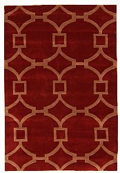 Teppich 200 x 300 cm (wolle) - Apollónia (rot/beige)