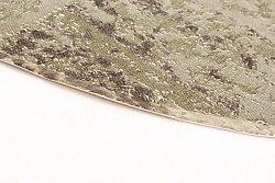 Flickenteppich weiß  Lismore (rund) (schwarz/grau/weiß)