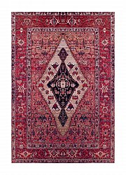Wilton-Teppich - Tibet Afghan (rot)