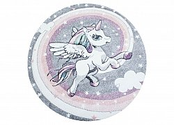 Kinderteppich - Atlas Unicorn Rund (bunt)