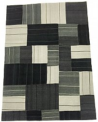 Patchwork Teppich - Superior new wool Patchwork (schwarz)