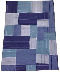 Patchwork Teppich - Superior new wool Patchwork (blau)