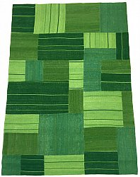 Patchwork Teppich - Superior new wool Patchwork (grün)