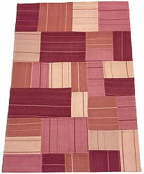 Patchwork Teppich - Superior new wool Patchwork (rosa)