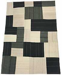 Patchwork Teppich - Superior new wool Patchwork (grau)