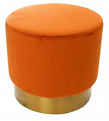 Sitzpoufs samt - Copenhagen (orange)