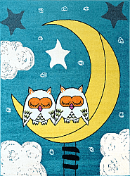 Kinderteppich - Moda Sleepy Owls (Türkis)