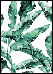 Tropical Leaves Watercolour