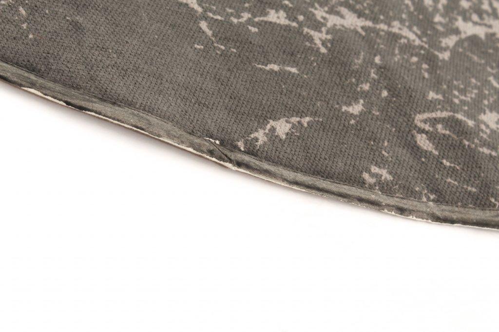 flickenteppich cassis rund grau. Black Bedroom Furniture Sets. Home Design Ideas