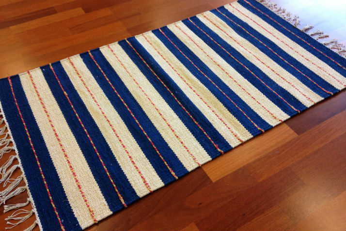 Flickenteppich blau  Flickenteppich - Alva (Blau) - Trendcarpet.de