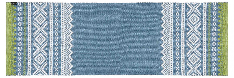 kunststoffteppiche der horred teppich marit blau gr n. Black Bedroom Furniture Sets. Home Design Ideas