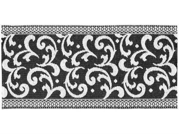 kunststoffteppiche der horred teppich barock schwarz. Black Bedroom Furniture Sets. Home Design Ideas