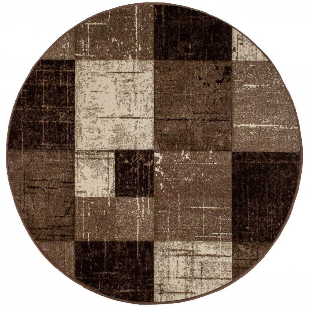 Runde Teppiche London Square Schokolade